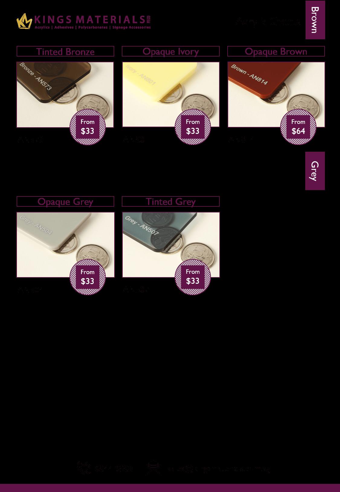 Acrylic Sheets – Kings Materials Pte Ltd